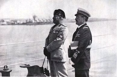 Mussolini e Cavagnari
