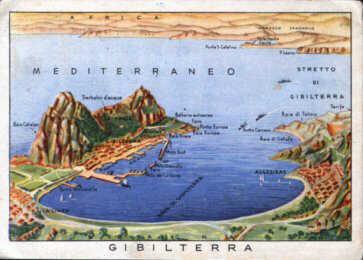 Gibilterra; questa cartolina fu ricevuta dalla zia di mia madre il 5 marzo 1942.